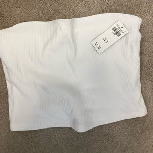 NWT White ribbed tube top